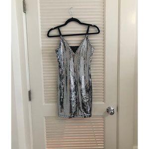 Topshop Dresses - Topshop Silver Sequin Dress